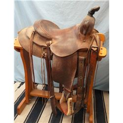 "Jordan & Sons, 14.5"", stock saddle, double rig, rough out"