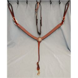 Headstall & breast collar, Cuttin' Horse Cowgirl conchos, brand new