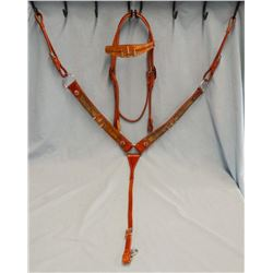 Headstall & breast collar, bullets & studded, brand new