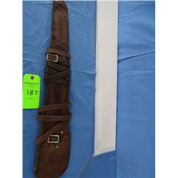 "Victor Ario, Great Falls, MT rifle scabbard, 29"", excellent mark"