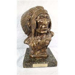 "Earl Heikka bronze, ""Blackfoot Chief,"""