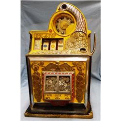 Watling Manuf. Co. Rol-A-Top slot machine, 1934, twin jackpot, dime machine, looks & works great!