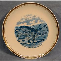 Vintage Kendall, MT souvenir plate, very old, excellent condition