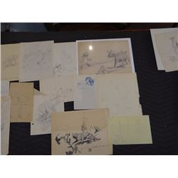 Collection of Will James sketches, from the Virginia Snook Estate, Billings, Mont.