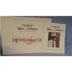 """""""The West of Will James – A Portfolio of His Drawings"""",  1978, First Edition, University of Nevada P"""