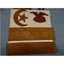 Al Furstnow, Miles City, MT saddle, chaps and bridle templates, for carving & tooling