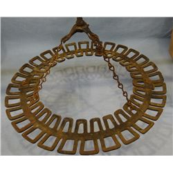 Quirt and bull whip store hanging rack, brass, from Al Furstnow's Saddlery basement