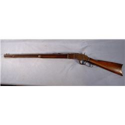 "Win 1873 .38 rifle, 24"" rd. barrel, S# 275736B, very good"