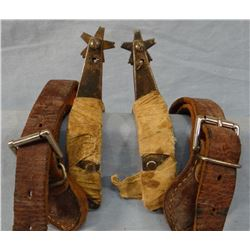 Bobby Blackwood bronc spurs, marked