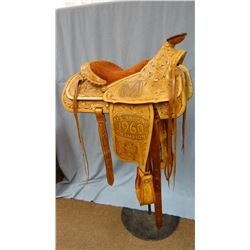 Benny Reynolds 1960 All Around Champion trophy saddle, Vancouver Pacific Nat'l. Exhibition & Rodeo,