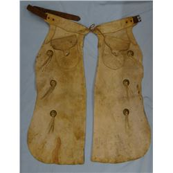 Visalia Stock Saddle Co. batwing chaps, well marked
