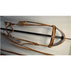 Al Furstnow bridle with G. S. Garcia style horsehead rosettes, with Crockett silver mtd. arrow shank