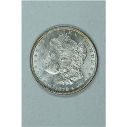 1878 Morgan 7/8 Doubled Tail Feathers