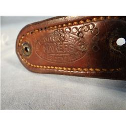 Miles City Saddlery early gun belt and buckle