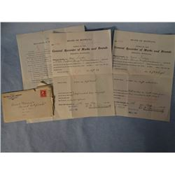 3 Montana Brand registration papers, White Sulphur Springs area
