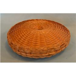 Great Lakes tribe Splint ash & sweet grass arm basket, ca. 1930's