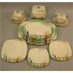 A Burleigh Ware 40 piece dinner service for a ten place setting Imperial shape Riviera pattern. & A Burleigh Ware 40 piece dinner service for a ten place setting ...