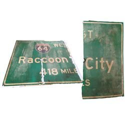 Resident Evil 6 Interstate 64 Sign Movie Props