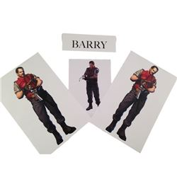 Resident Evil: Retribution Barry's (Kevin Durand) Renderings Movie Memorabilia