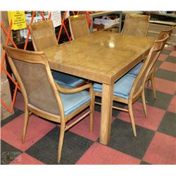 Drexel solid wood dining room table and chairs set for B m dining room table
