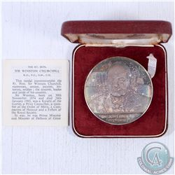 1874-1965 Sir Winston Churchill Silver Medallion (Toned). This Medallion was issued to Commemorate R