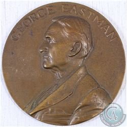 George Eastman 25 Years of Service in the Kodak Company Bronze Medallion Presented to Armand Ault Fl