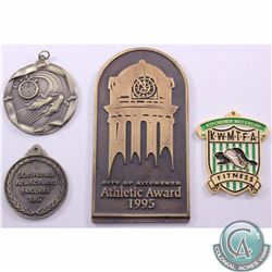 Estate Lot of 4x Athletic award Medals. This lot includes the following Medallions: Kitchener Waterl