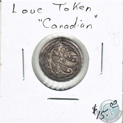 Love Token Engraved on a Canadian Silver 10-cent. 18 mm in Diameter.