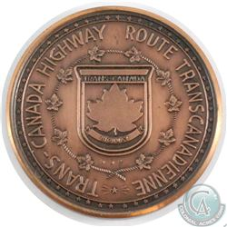 1962 Trans-Canada Highway Route Bronze Medallion. Built to Commemorate the official openning of the