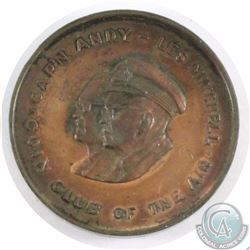 1964 Cap'n Andy's Coin Club of the Air Medallion. 40 mm in diameter.