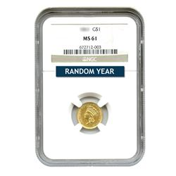 $1 Gold Type 3 MS61