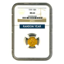 $1 Gold Type 3 MS63