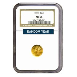 $1 Gold Type 3 MS64