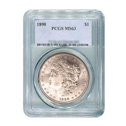 1890 $1 Morgan Silver Dollar - PCGS MS63