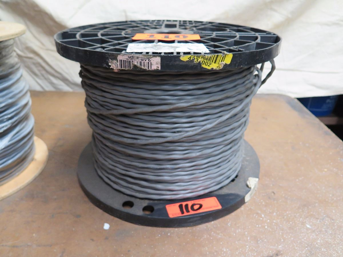 2 Spools Insulated Gray Cable - 18/6 Stranded Shielded Cable ...