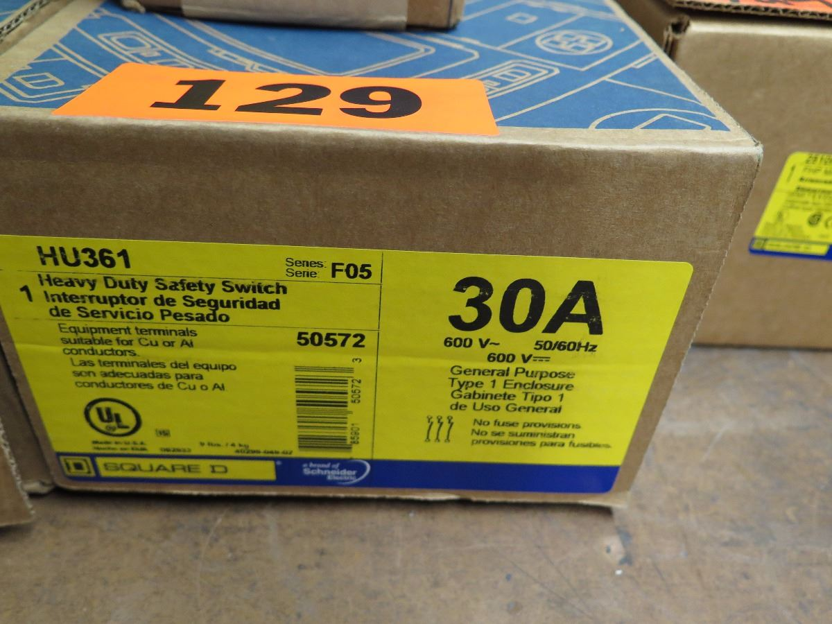 New Misc Square D Safety Switch 30 Amp Hu361 2 Groundable Fuse Box Image 5