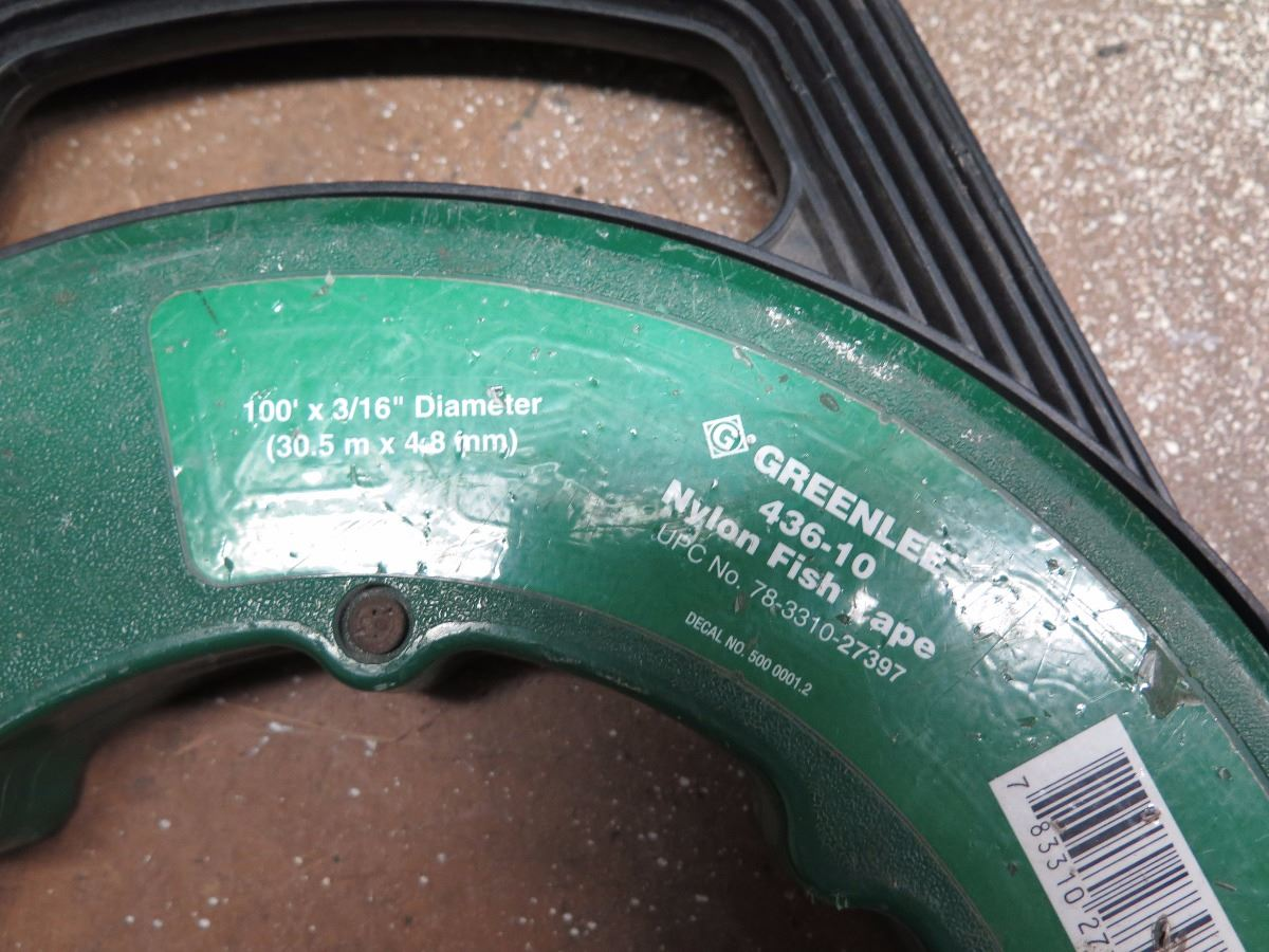 Greenlee fishing products fish tape etc oahu auctions for Greenlee fish tape
