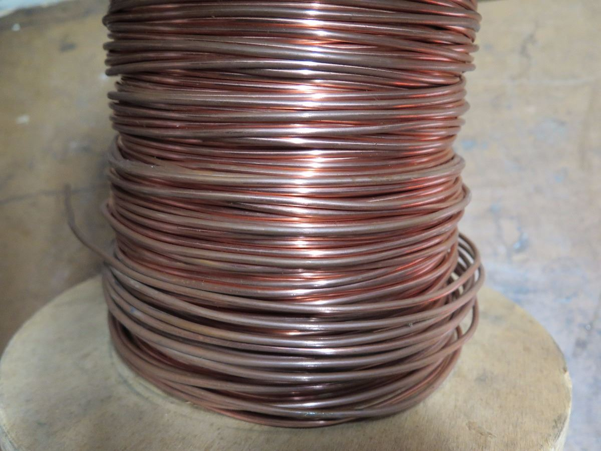 Spool of Bare Copper Wire - Oahu Auctions