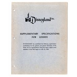 Disneyland Supplementary Specifications for Lessees Booklet.