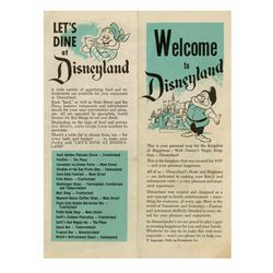 """Welcome to Disneyland"" Gate Hand-Out."