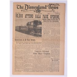The Disneyland News First Issue - Signed by Disney Legends.