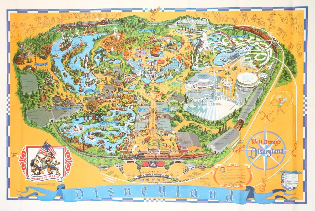 Disneyland Locations World Map.1975 Disneyland Map