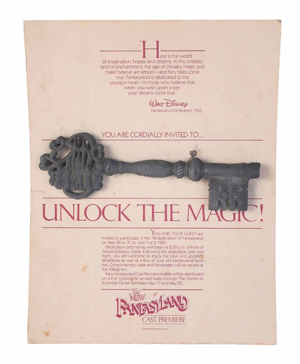 New fantasyland cast member premiere invitation with metal castle key image 1 new fantasyland cast member premiere invitation with metal castle key stopboris Choice Image