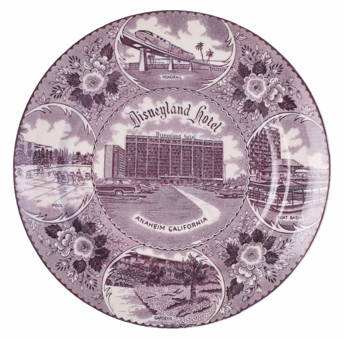 Hotel Collection Plates: Disneyland Hotel Decorative Plate