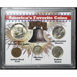 America's Favourite Coins - 5 Coin Set