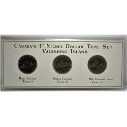 Canada's 1st Nickel Dollar Type Set - Vanishing Island