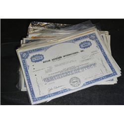 15 Assorted Vintage Cancelled Share Certificates