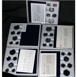 Run of Canadian Specimen Coin Sets - 1981 - 1985