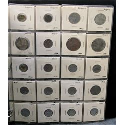 38 Assorted World Coins in Binder - Mexico, Cuba Etc.