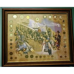 Canadian Coins of the 20th Century - Framed